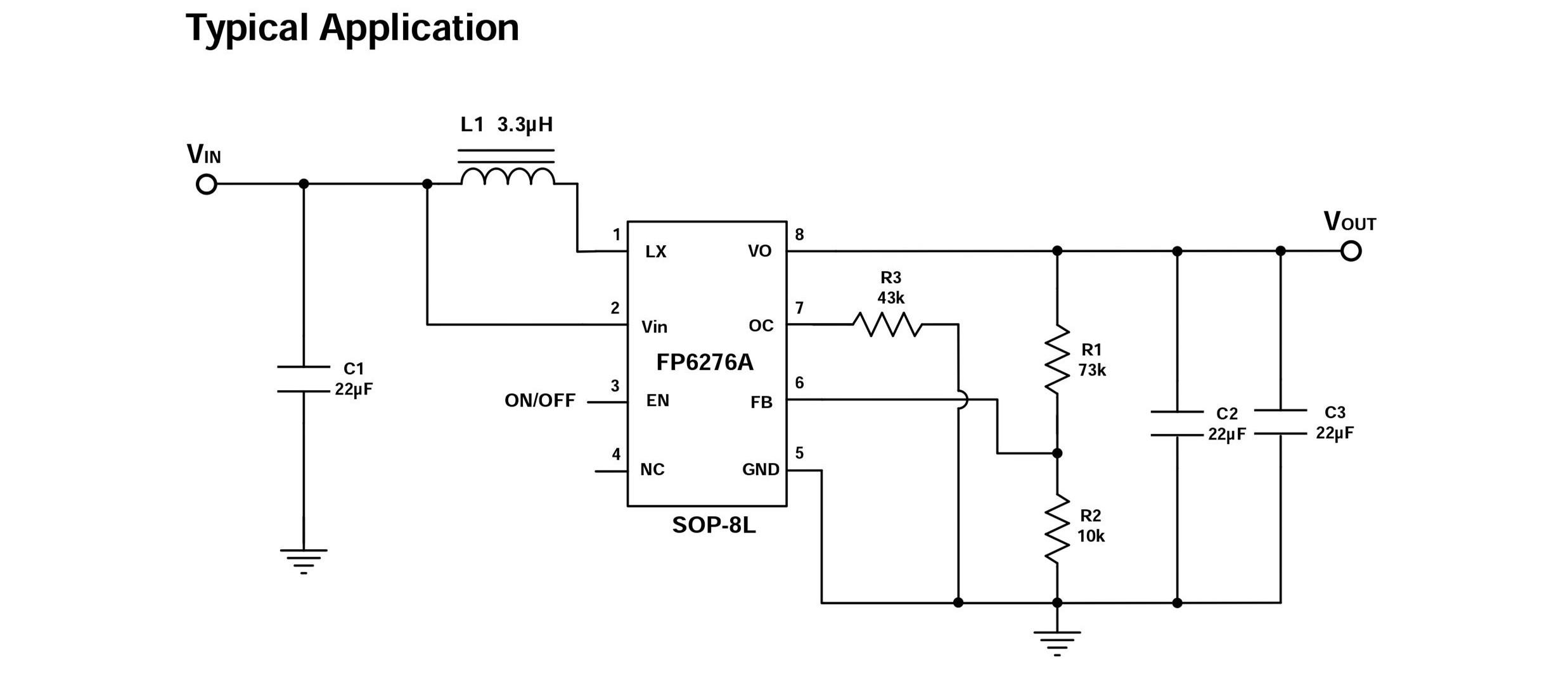2a同步整流升压ic-fp6276a,带限流 - dc-dc升压ic/ic